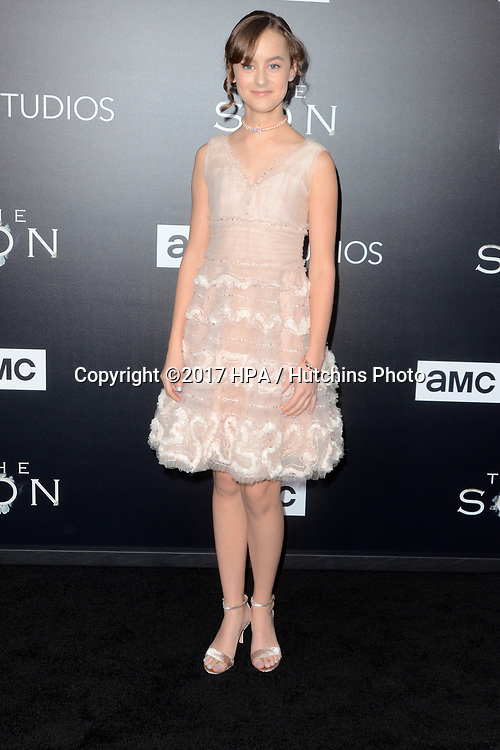 """LOS ANGELES - APR 3:  Sydney Lucas at the AMC's """"The Son"""" Season One LA Premiere at ArcLight Theater on April 3, 2017 in Los Angeles, CA"""