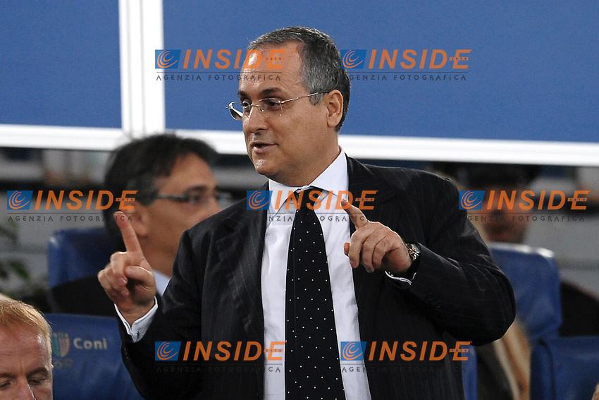"""Claudio LOTITO Presidente della Lazio.Roma 16/10/2011 Stadio """"Olimpico"""".Football Calcio Serie A 2011/2012.Lazio Vs Roma .Foto Insidefoto Andrea Staccioli"""