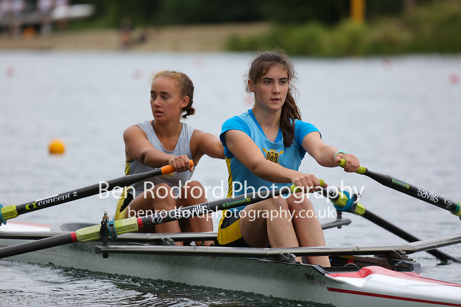 Race: 102  W.J15.2x  Final<br /> <br /> Peterborough Summer Regatta 2018 - Sunday<br /> <br /> To purchase this photo, or to see pricing information for Prints and Downloads, click the blue 'Add to Cart' button at the top-right of the page.