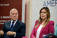 Roma, 23 Maggio 2017<br /> Gianni Letta e Maria Elena Boschi<br /> Presentazione del Libro: Sviluppo e Innovazione presso il Centro Studi Americani