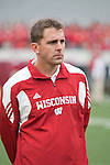 Wisconsin Badgers graduate assistant Mark Haering during an NCAA college football game against the San Jose State Spartans on September 11, 2010 at Camp Randall Stadium in Madison, Wisconsin. The Badgers beat San Jose State 27-14. (Photo by David Stluka)