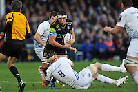 Francois Louw of Bath Rugby takes on the Leinster Rugby defence. European Rugby Champions Cup match, between Bath Rugby and Leinster Rugby on November 21, 2015 at the Recreation Ground in Bath, England. Photo by: Patrick Khachfe / Onside Images