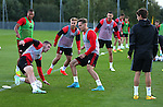 Stefan Scougall of Sheffield Utd Chris Hussey of Sheffield Utd  during the Sheffield Utd training session at the Shirecliffe Training Complex , Sheffield. Picture date: September 29th, 2016. Pic Simon Bellis/Sportimage