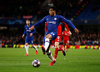 25th February 2020; Stamford Bridge, London, England; UEFA Champions League Football, Chelsea versus Bayern Munich; Reece James of Chelsea traps a difficult ball