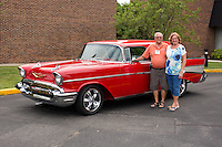 1957 Custom Senior (#63) – 1957 Chevrolet Bel Air Nomad registered to Marvin Schlemmer is pictured during 4th State Representative Chevy Show on Thursday, June 30, 2016, in Fort Wayne, Indiana. (Photo by James Brosher)