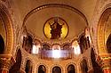24/03/03 - ISSOIRE - PUY DE DOME - FRANCE - L un des 5 chef d oeuvre d Art Roman Auvergnat. La Basilique SAINT AUSTREMOINE - Photo Jerome CHABANNE