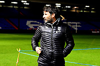 Lincoln City manager Danny Cowley before the match<br /> <br /> Photographer Andrew Vaughan/CameraSport<br /> <br /> The EFL Sky Bet League Two - Oldham Athletic v Lincoln City - Tuesday 27th November 2018 - Boundary Park - Oldham<br /> <br /> World Copyright © 2018 CameraSport. All rights reserved. 43 Linden Ave. Countesthorpe. Leicester. England. LE8 5PG - Tel: +44 (0) 116 277 4147 - admin@camerasport.com - www.camerasport.com