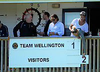 The scoreboard is adjusted during the ISPS Handa Premiership football Charity Cup match between Team Wellington and Auckland City FC at David Farrington Park in Wellington, New Zealand on Sunday, 15 October 2017. Photo: Dave Lintott / lintottphoto.co.nz