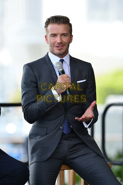 MIAMI, FL - FEBRUARY 05: David Beckham attends a press conference to announce plans to launch a new Major League Soccer franchise at PAMM Art Museum on February 5, 2014 in Miami, Florida.  <br /> CAP/MPI/MPI10<br /> &copy;MPI10/MediaPunch/Capital Pictures