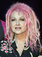 """The singer Cyndi Lauper on stage of the Operettenhaus during a press showing of the musical """"Kinky Boots"""" in Hamburg, Germany, 28. September 2017. The Germany premiere will be on the 3rd of December. Photo: Georg Wendt/dpa /MediaPunch ***FOR USA ONLY***"""
