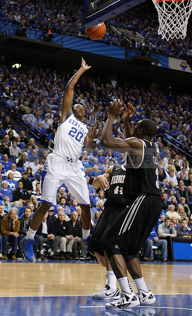 Doron Lamb takes a shot during the second half of the game against Vanderbilt University, in  Rupp Arena, on Saturday, Feb. 25, 2012. UK won 83-74. Photo by Latara Appleby | Staff ..