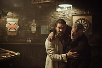 Jason Momoa & Stephen Lang<br /> Braven (2018)<br /> *Filmstill - Editorial Use Only*<br /> CAP/RFS<br /> Image supplied by Capital Pictures