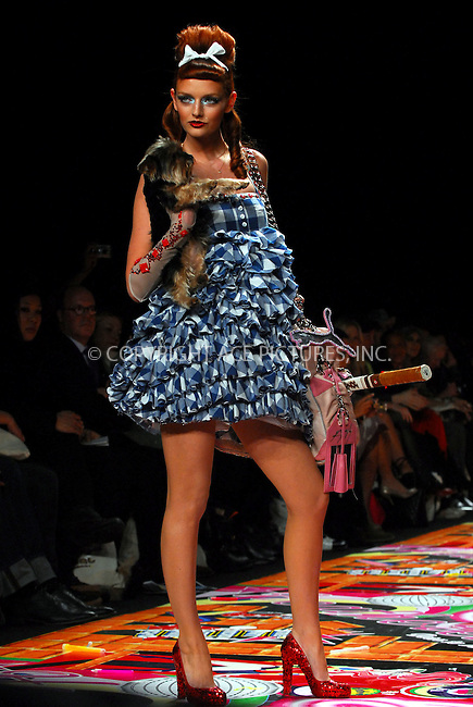 WWW.ACEPIXS.COM . . . . . ....February 6, 2007, New York City. ....Lydia Hearst displays a creation by Heatherette during the Mercedes-Benz Fashion Week Fall 2007. ....Please byline: KRISTIN CALLAHAN - ACEPIXS.COM.. . . . . . ..Ace Pictures, Inc:  ..(212) 243-8787 or (646) 769 0430..e-mail: info@acepixs.com..web: http://www.acepixs.com