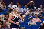 Ashleigh Barty of Australia celebrates winning the singles Round Robin match of the WTA Elite Trophy Zhuhai 2017 against Angelique Kerber of Germany at Hengqin Tennis Center on November  02, 2017 in Zhuhai, China.Photo by Yu Chun Christopher Wong / Power Sport Images