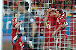 Spain's Alberto Moreno, Xavi Hernandez, Andres Iniesta, Santi Cazorla, Fernando Torres and Pedro Rodriguez celebrate goal during international friendly match.May 30,2014.(ALTERPHOTOS/Acero)