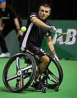 13-02-14, Netherlands,Rotterdam,Ahoy, ABNAMROWTT, Stephane Houdet(FRA) <br /> Photo:Tennisimages/Henk Koster