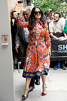 www.acepixs.com<br /> June 8, 2017 New York City<br /> <br /> Salma Hayek was seen at The Daily Show with Trevor Noah on June 8, 2017 in New York City.<br /> <br /> Credit: Kristin Callahan/ACE Pictures<br /> <br /> <br /> Tel: (646) 769 0430<br /> e-mail: info@acepixs.com