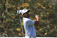 Khalin H Joshi (IND) in action on the 11th during Round 3 of the Hero Indian Open at the DLF Golf and Country Club on Saturday 10th March 2018.<br /> Picture:  Thos Caffrey / www.golffile.ie<br /> <br /> All photo usage must carry mandatory copyright credit (&copy; Golffile | Thos Caffrey)