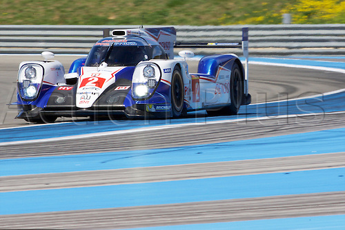 28.03.2015.  Le Castellet, France. World Endurance Championship Prologue Day 2. Toyota Racing Toyota TS040 Hybrid driven by Alexander Wurz, Stephane Sarrazin and Mike Conway.