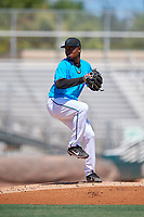 Miami Marlins pitcher Julio Frias (77) during an Instructional League game against the Washington Nationals on September 25, 2019 at Roger Dean Chevrolet Stadium in Jupiter, Florida.  (Mike Janes/Four Seam Images)