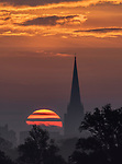 Sunrise over Chichester Cathedral by Jess Jones