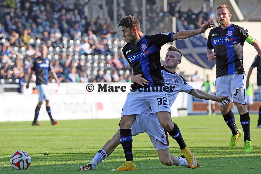 Pascal Groß (Ingolstadt) gegen Vincenzo Grifo (FSV) - FSV Frankfurt vs. FC Ingolstadt 04, Frankfurter Volksbank Stadion