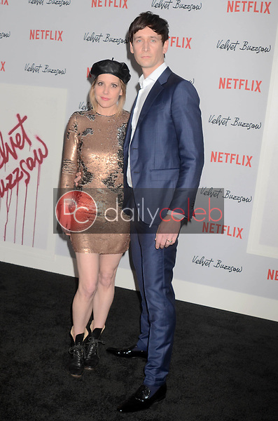 """Emma Caufield, Mark Leslie Ford<br /> at the """"Velvet Buzzsaw"""" Los Angeles Premiere Screening, Egyptian Theater, Hollywood, CA 01-28-19<br /> David Edwards/DailyCeleb.com 818-249-4998"""