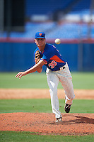 GCL Mets pitcher Max Wotell (30) delivers a pitch during the first game of a doubleheader against the GCL Marlins on July 24, 2015 at the St. Lucie Sports Complex in St. Lucie, Florida.  GCL Marlins defeated the GCL Mets 5-4.  (Mike Janes/Four Seam Images)