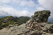 Looking south along the Appalachian Trail (Franconia Ridge Trail) on Franconia Ridge in the White Mountains of New Hampshire USA during the summer months.
