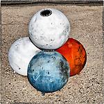 Spherical buoys, Hawthorne, Nevada