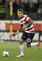 COLUMBUS, OHIO - SEPTEMBER 11, 2012:  Fabian Johnson (23) of the USA MNT in action against Jamaica during a CONCACAF 2014 World Cup qualifying  match at Crew Stadium, in Columbus, Ohio on September 11. USA won 1-0.