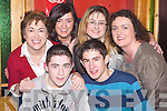 FUN: Having great fun in McElligotts Bar, Ardfert, as they celebrated New Year's Eve were, front l-r: Sea?n Godley and Declan Griffin. Back l-r: Peg Griffin, Claire Godley, Sarah Griffin and Rosario Godley.   Copyright Kerry's Eye 2008