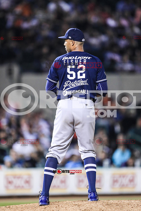 Carlos Fisher pitcher relevo de yaquis , durante el partido2 de beisbol entre Naranjeros de Hermosillo vs Yaquis de Obregon. Temporada 2016 2017 de la Liga Mexicana del Pacifico.<br /> &copy; Foto: LuisGutierrez/NORTEPHOTO.COM