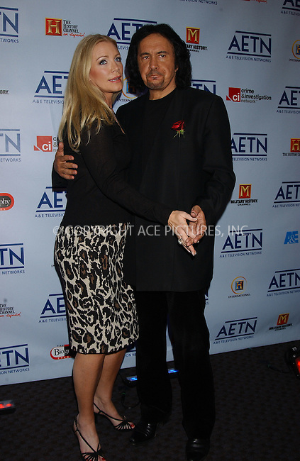 WWW.ACEPIXS.COM . . . . . ....NEW YORK, APRIL 18, 2006....Shannon Tweed and Gene Simmons at the A&E Fall '06 Line Up Party.....Please byline: KRISTIN CALLAHAN - ACEPIXS.COM.. . . . . . ..Ace Pictures, Inc:  ..(212) 243-8787 or (646) 679 0430..e-mail: info@acepixs.com..web: http://www.acepixs.com