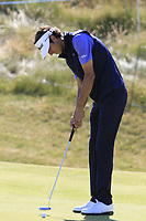 Pedro Oriol (ESP) putts on the 6th green during Friday's Round 2 of the 2018 Dubai Duty Free Irish Open, held at Ballyliffin Golf Club, Ireland. 6th July 2018.<br /> Picture: Eoin Clarke | Golffile<br /> <br /> <br /> All photos usage must carry mandatory copyright credit (&copy; Golffile | Eoin Clarke)