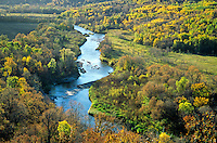 Pembina River flows in valley at Tetrault Woods State Forest, west of Walhalla, North Dakota, AGPix_0596..