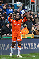 Blackpool's Donervon Daniels takes a throw in<br /> <br /> Photographer Andrew Kearns/CameraSport<br /> <br /> The EFL Sky Bet League Two - Bristol Rovers v Blackpool - Saturday 2nd March 2019 - Memorial Stadium - Bristol<br /> <br /> World Copyright © 2019 CameraSport. All rights reserved. 43 Linden Ave. Countesthorpe. Leicester. England. LE8 5PG - Tel: +44 (0) 116 277 4147 - admin@camerasport.com - www.camerasport.com
