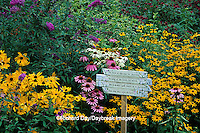 63821-07319 Garden Poem on sign in Bird and Butterfly Flower Garden Marion Co.  IL