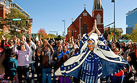 Musicians, singers and performers entertain visitors during the Wells Fargo Community Celebration, held October 29, 2011 in downtown Charlotte NC. The daylong festival took place in the streets, in public atriums and in downtown museums, which offered free admission all day long. Wells Fargo, which this month completed its conversion from Wachovia, picked up the bill.