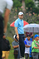 Bernd Wiesberger (Europe) on the 9th green during the Saturday Foursomes of the Eurasia Cup at Glenmarie Golf and Country Club on the 13th January 2018.<br /> Picture:  Thos Caffrey / www.golffile.ie