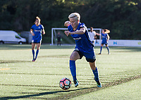 Seattle, WA - Saturday July 22, 2017: Megan Rapinoe during a regular season National Women's Soccer League (NWSL) match between the Seattle Reign FC and Sky Blue FC at Memorial Stadium.