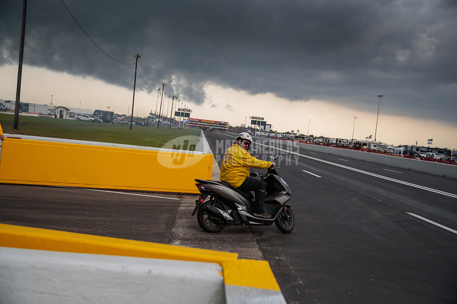 Apr 14, 2019; Baytown, TX, USA; NHRA safety safari official Jeff Parker during the Springnationals at Houston Raceway Park. Mandatory Credit: Mark J. Rebilas-USA TODAY Sports