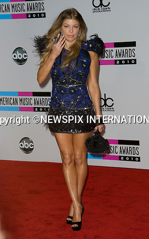 "FERGIE.American Music Awards 2010,Nokia Rheatre, Los Angeles_21/10/2010.Mandatory Photo Credit: ©Dias/Newspix International..**ALL FEES PAYABLE TO: ""NEWSPIX INTERNATIONAL""**..PHOTO CREDIT MANDATORY!!: NEWSPIX INTERNATIONAL(Failure to credit will incur a surcharge of 100% of reproduction fees)..IMMEDIATE CONFIRMATION OF USAGE REQUIRED:.Newspix International, 31 Chinnery Hill, Bishop's Stortford, ENGLAND CM23 3PS.Tel:+441279 324672  ; Fax: +441279656877.Mobile:  0777568 1153.e-mail: info@newspixinternational.co.uk"
