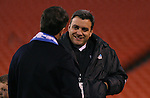 27 October 2007: Wizard's President and part owner Robb Heineman (r) with part owner Greg Maday (l). The Kansas City Wizards defeated Club Deportivo Chivas USA 1-0 in the first leg of their Major League Soccer Western Conference Semifinal playoff series at Arrowhead Stadium in Kansas City, Missouri.