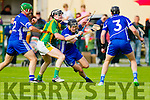 James McCarthy Kilmoyley in action against Fionan Horgan Saint Brendan's in the County Senior Hurling Final at Abbeydorney on Sunday.