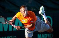 06-07-11, Tennis, South-Afrika, Potchefstroom, Daviscup South-Afrika vs Netherlands, Training Nederlands team, Thomas Schoorel