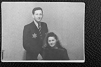 Mendel Grossman, Ghetto Photographer, and [maybe] Simon's Sister.  Formal [wedding?] portrait.