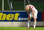 St Johnstone v Hamilton Accies...10.05.11.A gutted Simon Mensing.Picture by Graeme Hart..Copyright Perthshire Picture Agency.Tel: 01738 623350  Mobile: 07990 594431