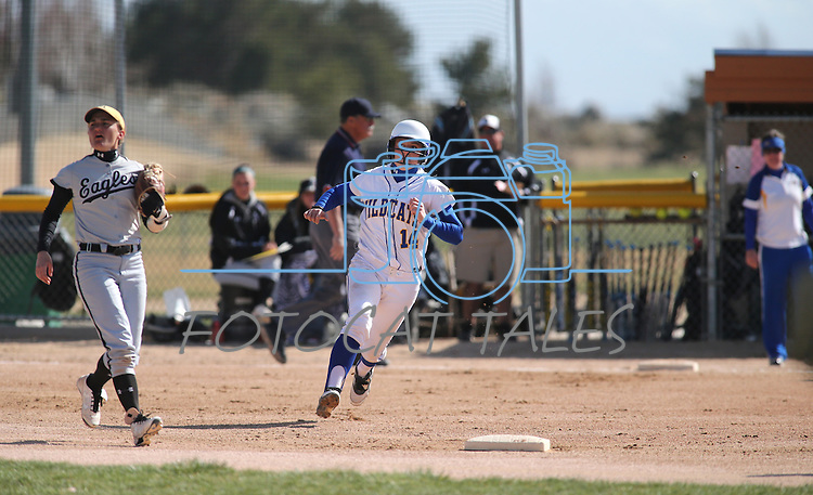 Western Nevada's Sydney Darby runs the bases during a college softball game against College of Southern Idaho in Carson City, Nev., on Friday, March 22, 2013..Photo by Cathleen Allison