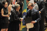 SÃO PAULO,SP,18.12.2018 - DIPLOMAÇÃO-SP - Eduardo Bolsonaro durante cerimonia de diplomação dos candidatos eleitos para assumir o cargo em janeiro 2019. A cerimonia foi realizada na sala Sao Paulo nesta terça-feira, 18.  (Foto Dorival Rosa/Brazil Photo Press)